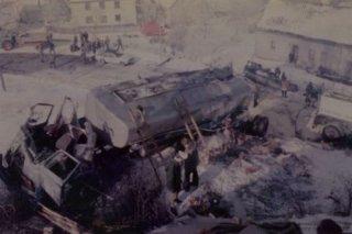 Unfall Tankzug bei Dreis