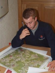 Alexander Schmitz bei der Übungsleitung für den Unterbezirk Daun